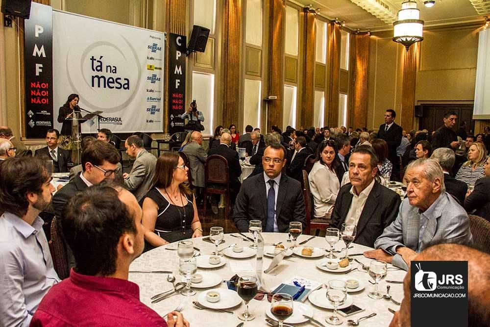 Almoço reuniu público seleto na sede da Federasul, em Porto Alegre (RS). William Anthony/JRS
