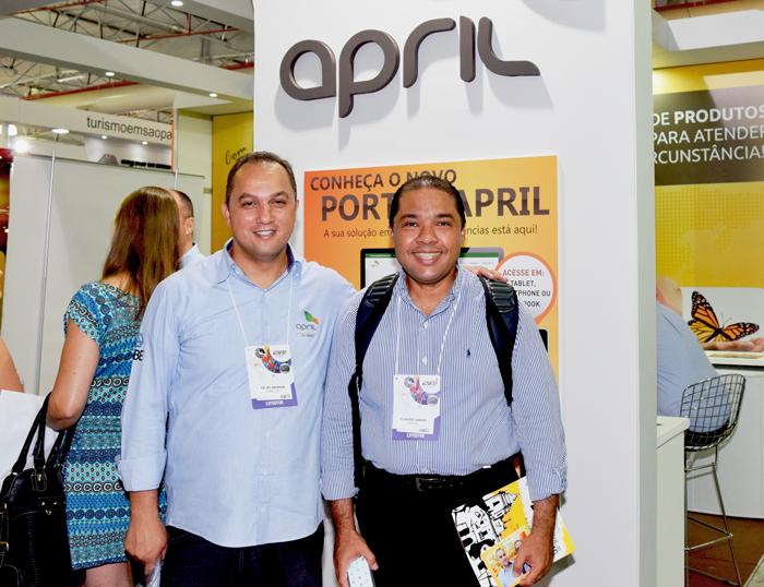 Da esquerda para direita: Celso Andrade, gerente Comercial da April Brasil dos estados de SP e MG e Claudio J. S. Junior, diretor Festival Turismo João Pessoa. Divulgação