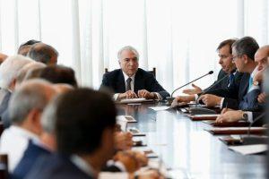 Presidente Michel Temer durante reunião dos Conselhos da República e de Defesa Nacional