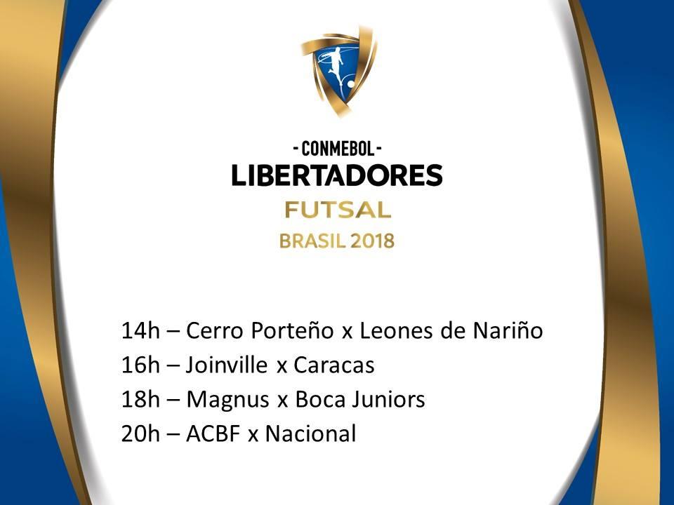 Próximos jogos da Libertadores de Futsal / Divulgação