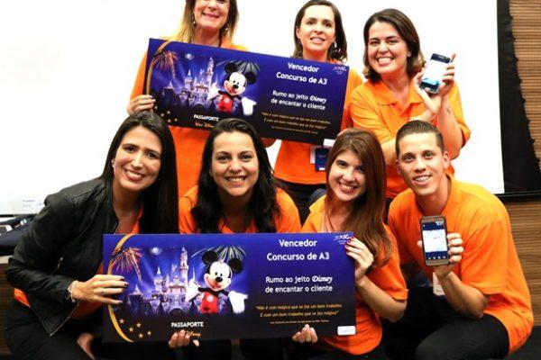 Vencedores do concurso, dois grupos de funcionários embarcarão para um curso sobre excelência em serviços na Disney (EUA)