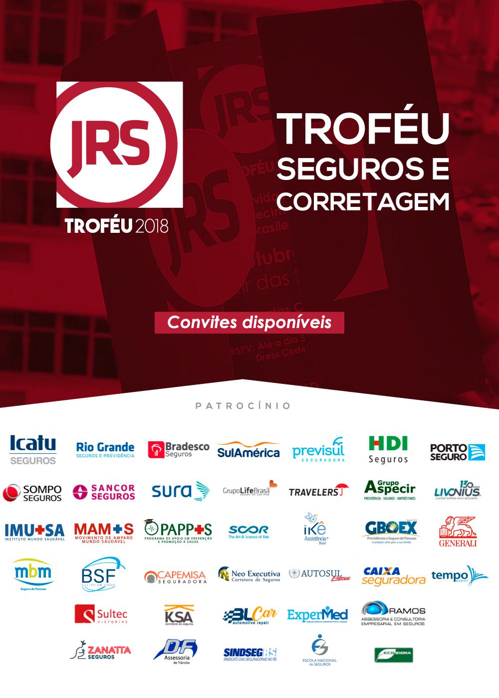Troféu JRS acontece no dia 19 de outubro, em Porto Alegre (RS)