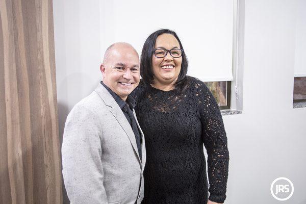 Valdir Brusch e Denise Martins, do Sindicato dos Securitários do Rio Grande do Sul - Foto: William Anthony/JRS