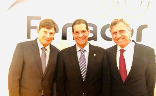 Jayme Torres, presidente do CCS-RJ, Armando Vergilio, presidente da Fenacor, e Amilcar Vianna, diretor do CCS-RJ / Divulgação