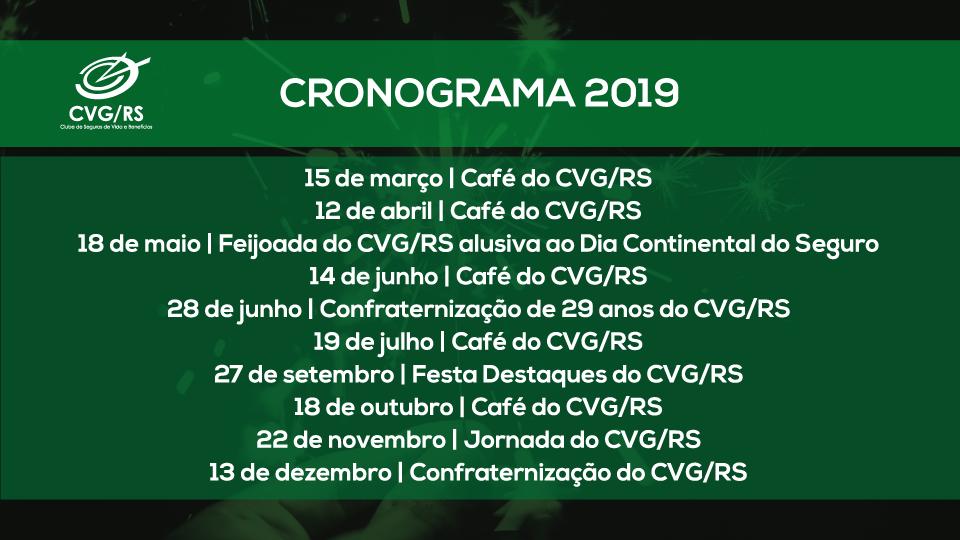 CVG/RS divulga diretrizes e calendário de ações para 2019