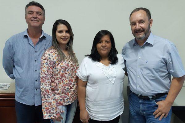 Marco Antônio Lameirinha, Kelly Cristina, Fabiana e André Pacheco, profissionais do novo escritório / Divulgação