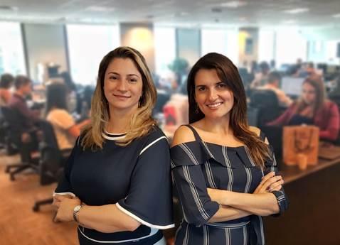 Luciana Olivo, líder do time de Sinistros da JLT Brasil, e Bianca Velasquez, que está à frente da equipe de Resseguros / Divulgação