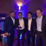 Augusto Assis, Diretor de Sinistros da AIG, Carlos Eduardo Ribeiro, Selletiva, Rodrigo Valadares, Gerente de Middle Market da AIG e Fabio Oliveira, CEO AIG.