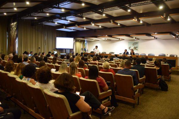 Participaram 155 pessoas no primeiro dia e 95 no segundo dia de oficina no Rio de Janeiro