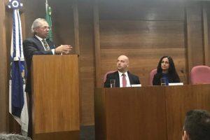 O ministro da Economia, Paulo Guedes, discursa durante a posse de Solange Vieira como superintendente da Susep / Reprodução