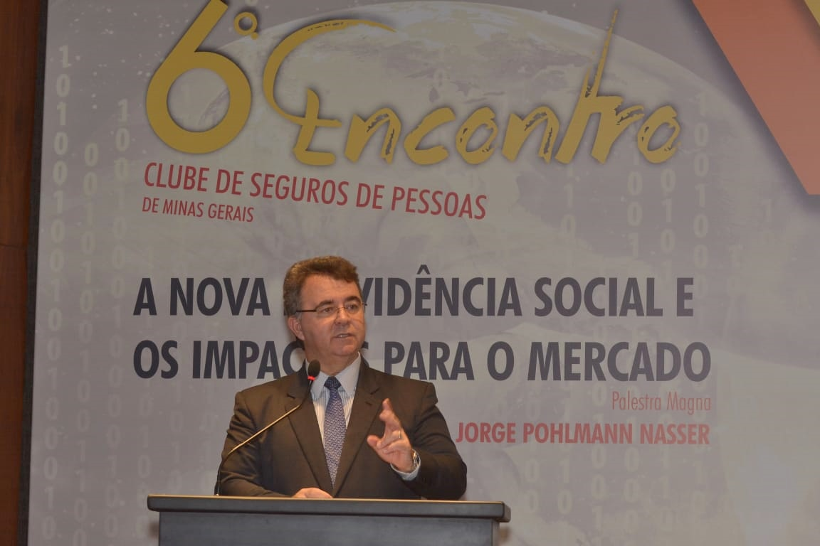 Jorge Nasser, presidente da FenaPrevi, proferiu palestra magna do 6º Encontro do CSP-MG