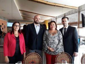 Sonia Marra, diretora financeira do CCS-RJ; Fabio Izoton, presidente; Márcia Simplicio, da Comissão da Mulher; e Luiz Mario Rutowitsch, diretor secretário / Divulgação