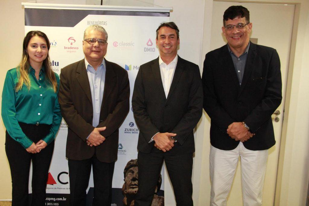 Fabiana Resende, João Paulo Mello, Sergio Prates e Mauricio Tadeu Morais: diretoria do CSP-MG
