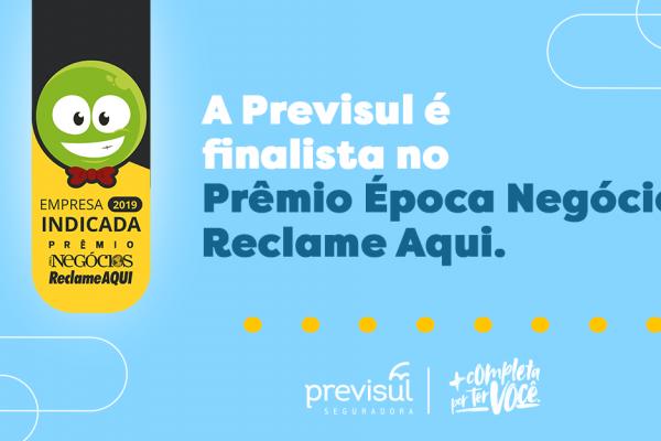 Previsul Seguradora é finalista do Prêmio Época Negócios ReclameAQUI