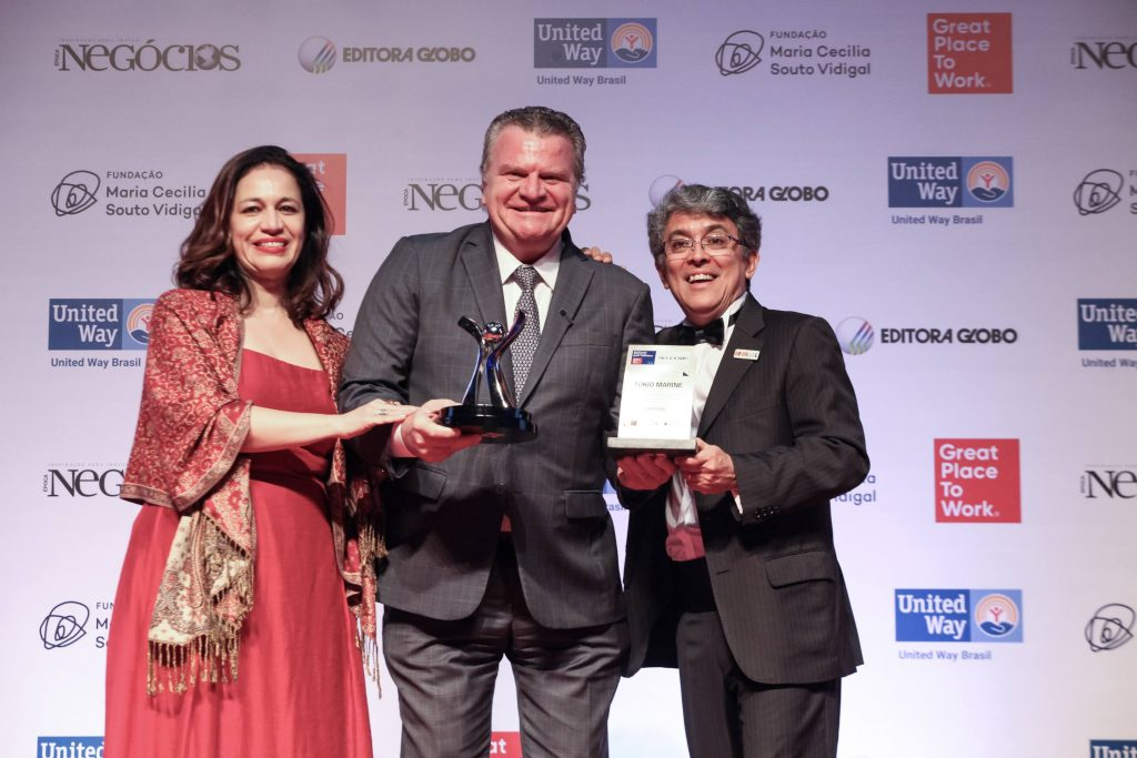 José Adalberto Ferrara, presidente da Tokio Marine, durante a premiação / Foto: Alexandre Di Paula