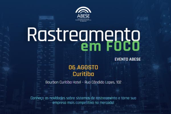 Curitiba (PR) recebe Rastreamento em Foco no dia 6 de agosto