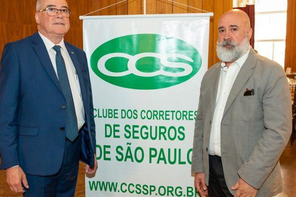 Evaldir Barboza de Paula (CCS-SP) e Ronaldo Megda (Grupo Tracker) / Divulgação