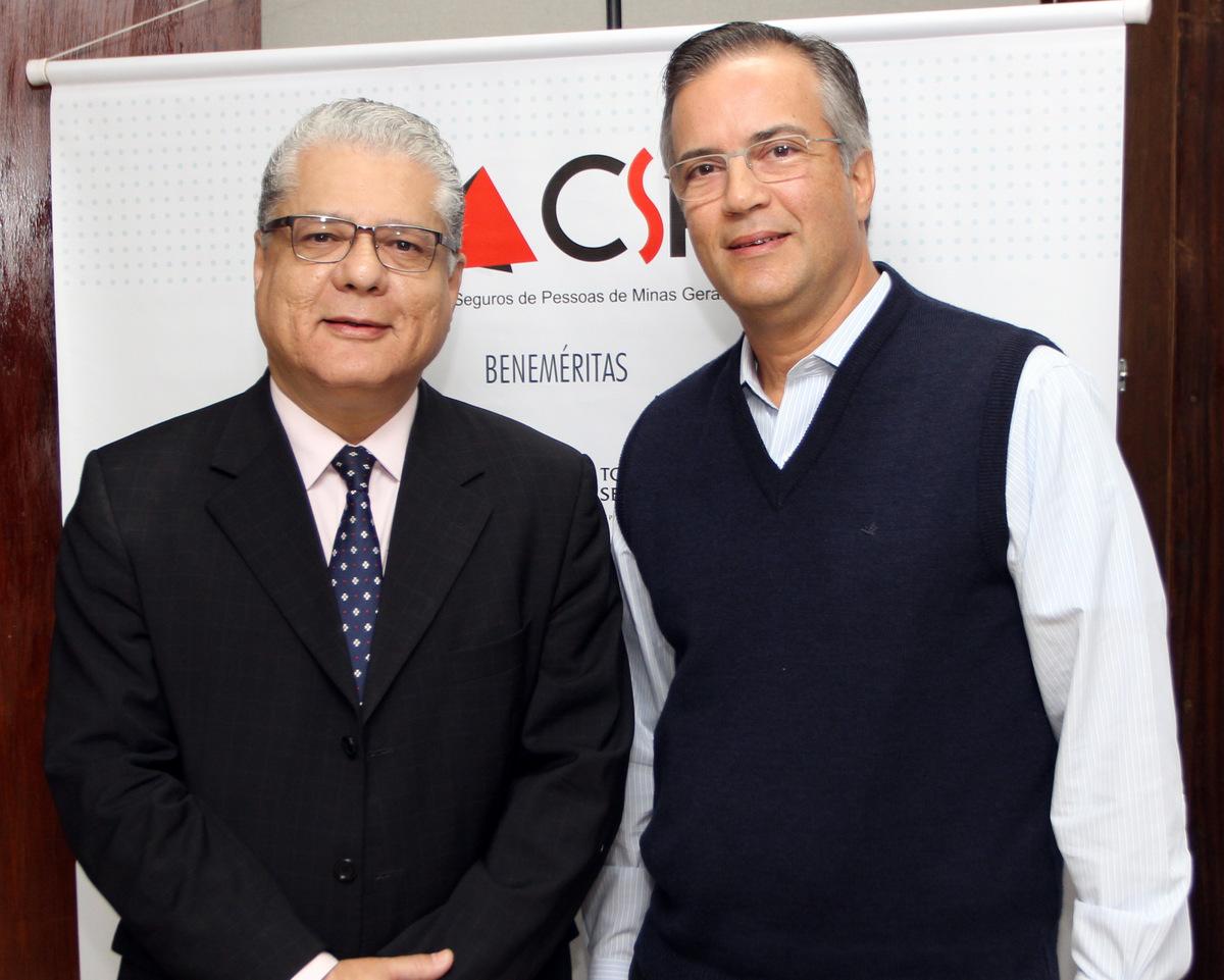 João Paulo Moreira de Mello, anfitrião do evento, e o palestrante João Alceu Amoroso Lima / Foto: Arnaldo Athayde