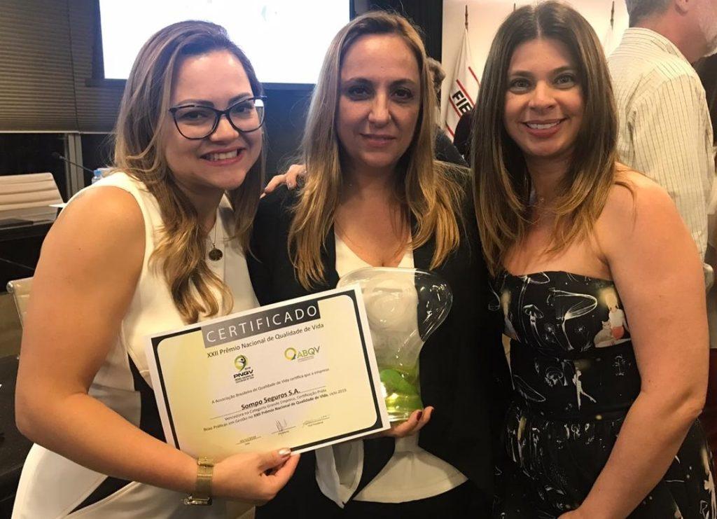 Sompo Seguros recebe Prêmio Nacional de Qualidade de Vida da ABQV