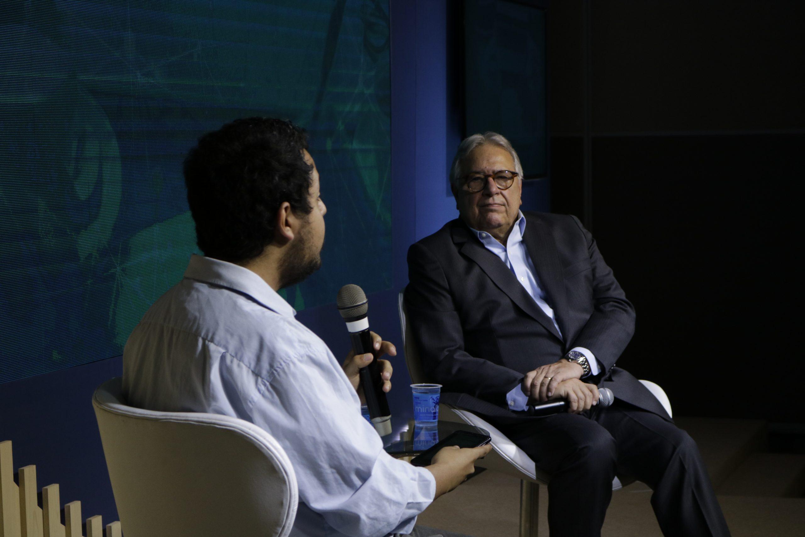 William Anthony entrevista Marcio Coriolano, presidente da CNseg / Foto: Diogo Vives/Divulgação