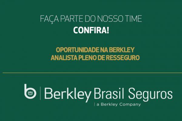 Berkley Brasil Seguros contrata Analista Pleno de Resseguro