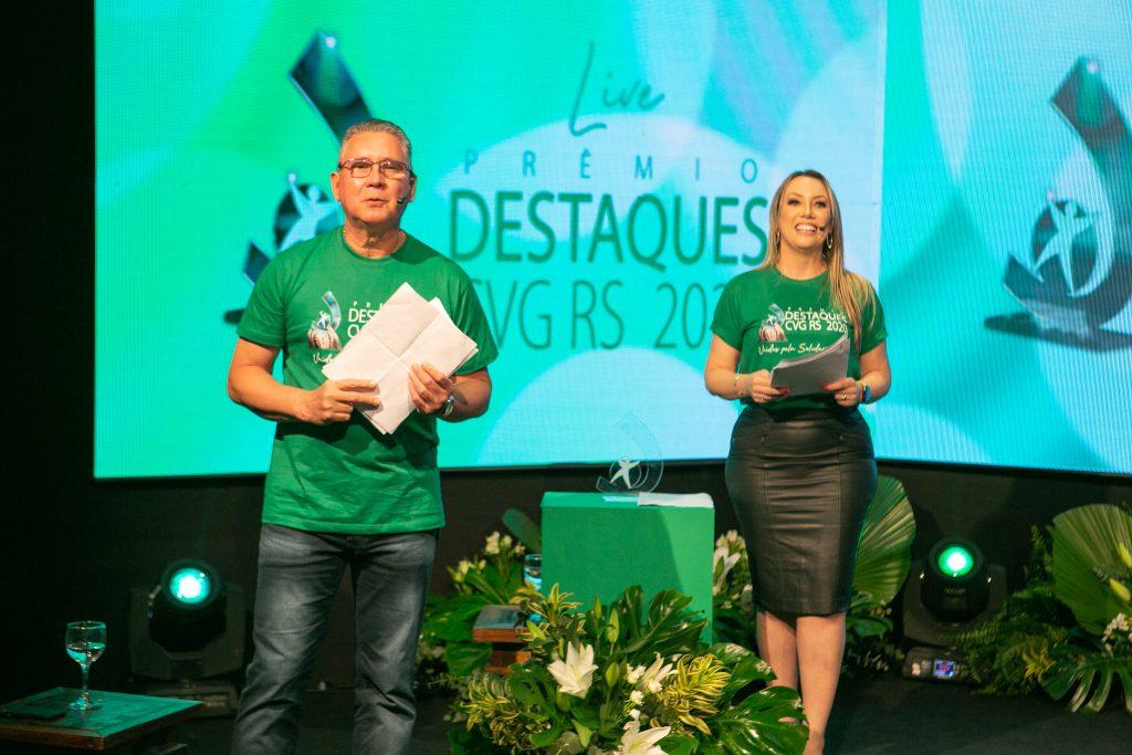 Clodomiro Dorneles, vice-presidente; e Andreia Araújo, presidente do CVG-RS / Foto: Salomão Cardoso/Divulgação