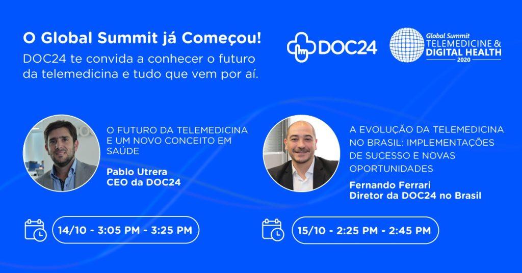 DOC24 demonstra soluções em summit global de telemedicina
