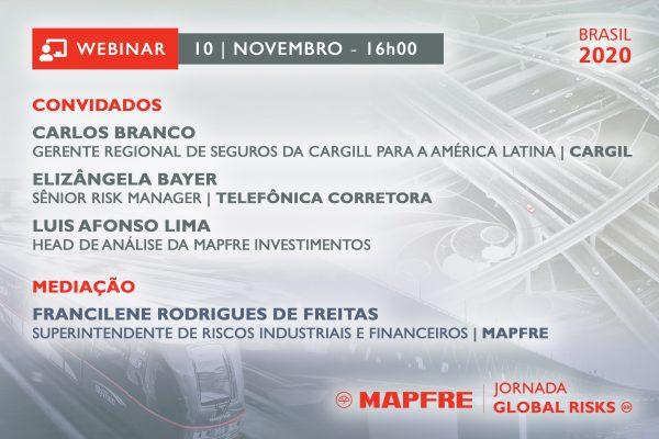 Mapfre debate infraestrutura do Brasil em webinar da Jornada Global Risks