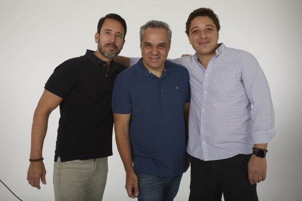 Marcelo Torres, Henrique Volpi e Diogo Russo, da Kakau Seguros / Divulgação