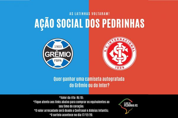 Ação social do Clube da Pedrinha RS arrecada e divulga vencedores