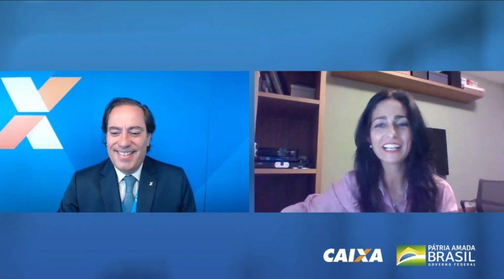 Pedro Guimarães, presidente da Caixa, e Solange Vieira, superintendente da Susep / Reprodução