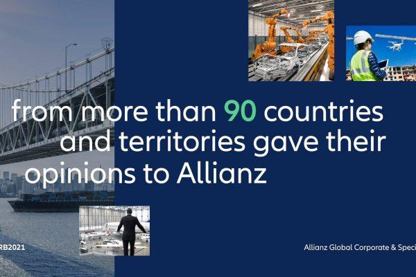 Allianz Risk Barometer 2021: trio relacionado à Covid-19 encabeça os riscos comerciais globais